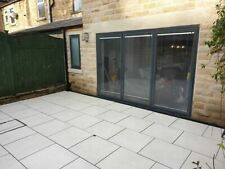 New Aluminium Bi fold Doors inc blinds 3 panels. 2.4m x 2.1 GREY