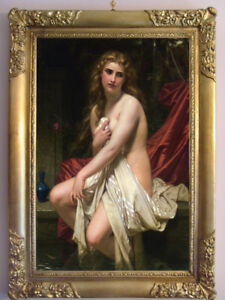 """Hand-painted Old Master-Art Antique Oil Painting art nude girl on canvas 24""""X36"""""""