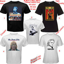 John Denver JOHNNY CASH Album concert Tour Shirt All Size S,M,L~5XL,Kids,infant
