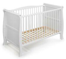 """Lit d'enfant lit de bébé évolutif """"Lilly"""" 120x60 blanc style campagne bois"""