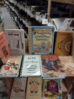 Lot of 5 RANDOM Assorted/Mixed/Regional Spiral Cookbooks, Vintage/Contemporary
