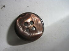 ANT/VTG BROWN/BRONZE 'ABALONE' SLIGHTLY CONTOURED CELLULOID/LUCITE BUTTON