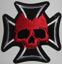 IRON CROSS and SKULL PATCH - GERMAN - NEW MOTORCYCLE VEST PATCH