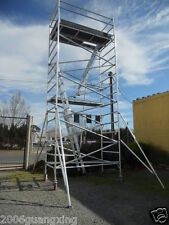 Aluminium mobile Scaffold Tower W68 Scaffolding Platfrom Ht 5.8m Overall ht 6.8m