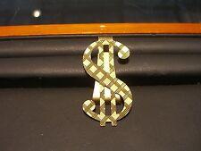 Fine 14 Karat Yellow Gold Weave Design Dollar Sign Money Clip New Wow 10.5 Grams