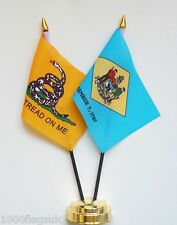 Gadsden & Delaware Double Friendship Table Flag Set