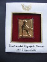 Centennial Olympic Games Mens Gymnastics 22kt Gold GOLDEN replica Cover STAMP