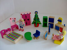 Dolls Wooden Dolls House Furniture Bundle