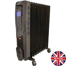 DIGITAL OIL FILLED RADIATOR 2500W 11 FIN PORTABLE ELECTRIC HEATER WITH TIMER