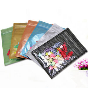 Clear Colorful Aluminum Foil for Zip Pouch Bags Lock Mylar Cord Design Packaging