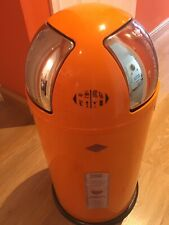 NEW Wesco Push Two 50 Litre Metal Refuse Kitchen Waste Bin Orange BARGAIN!!!