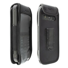 caseroxx Leather-Case with belt clip for Nokia 800 Tough in black made of genuin