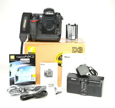 Nikon D3 DSLR Camera Body Only + Nikon MH-22 Charger & EN-EL4 Battery  - Boxed -