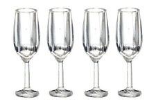 Champagne Flutes Set  Of Four, Dolls House Miniature, 1;12 Scale