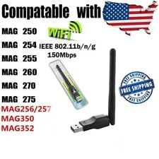 USB WiFi Antenna Stick Adapter Wireless WLAN Dongle for MAG 250 254 Aura HD IPTV