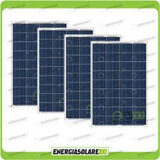Set 4 Pannelli Solari Fotovoltaici 80W 12V multiuso Pmax 320W Baita Barca