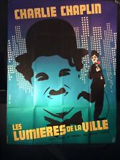 Charlie Chaplin City Lights ~ Huge Movie Poster ~ French ~ 46� X 60� ~ 1958