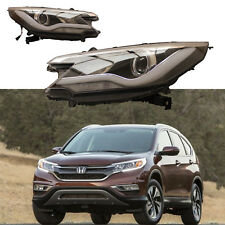 with Angel Eye Headlights and LED Light Bar DRL Lamp For Honda 2012-2014 CR-V