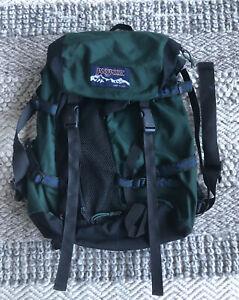 Vintage Jansport Large Hiking Backpack Bag Camping CarryOn  Green USA 90s