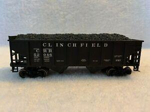 Bowser HO Scale Clinchfield 34' Hopper #52046 with Coal Load, KDs & Steel Wheels