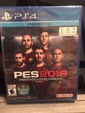 PS4 PES Pro Evolution Soccer 2018 Premium Edition Futbol NEW Sealed REGION FREE