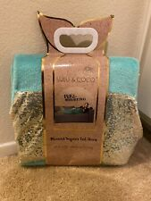 lulu & Coco mermaid sequins tail throw plush NWT Teal Blue/ Sequence  adult kids