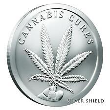 2016 Silver Shield Cannabis Cures 1 oz .999 Silver Round Bullion Coin