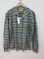 RM Williams Mens Camp Shirt Size M Long Sleeve Button Up Green Plaid New