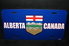 ALBERTA FLAG CAR LICENSE PLATE  PLAQUE DE LICENCE DU DRAPEAU D'ALBERTA