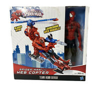 Ultimate Spider-Man 12 Inch Action Figure, Web Copter, Launching Web Missile-New