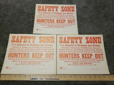 Lot Of 3 1947 Pennsylvania Property Hunters Keep Out P.L. 386 Cardboard Nos Rare
