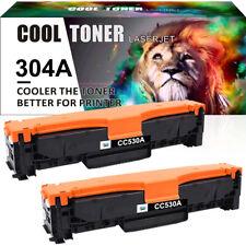 2PK For HP LaserJet CP2025dn CP2025n CM2320nf MFP Black Toner CC530A 304A ink