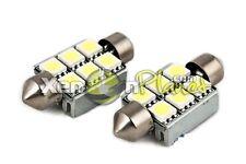 2x 37mm C5W 6 SMD LED Festoon License Targa Lampadine Senza Errori Canbus