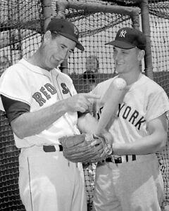 "Ted Williams & Roger Maris - 8"" x 10"" Photo - 1960 - Fenway Park-  Baseball"