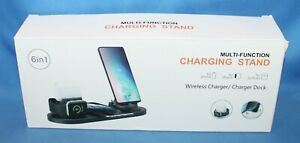 6-in-1 Multi-Function Wireless Charger/Charger Dock Stand