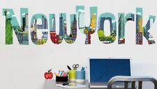 Wandtattoo New York Schriftzug USA Amerika Homesticker Aufkleber Sticker Muster