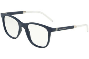 New Dolce & Gabbana DG5037 3094 Matte Blue Clear RX Eyeglasses Frames 53mm Italy