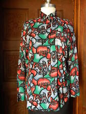 WHISTLES Mens Multi-Color Abstract Long Sleeve Button Down Shirt Blouse Sz M