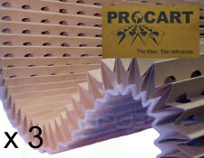 3 x Paint Spray Booth Concertina High Efficiency Backed Cardboard Filters 1 x 8m