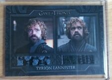 2020 Game of Thrones Complete Series Tyrion Lannisters Jackets Dual Relic DC3