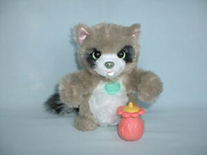 FURREAL FRIENDS WOODLAND SPARKLE ROCCO RACCOON Electronic Pet Toy HASBRO/BOTTLE