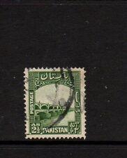 PAKISTAN 1948 2 1/2a GREEN - LLOYDS BARRAGE - Nice Used