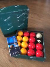 "Aramith Premier 2"" Red & Yellow Pool Table Billiards Balls Set Cue Ball"