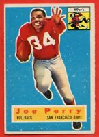 1956 Topps #110 Joe Perry VG-VGEX+ CREASE HOF San Francisco 49ers FREE SHIPPING