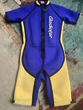 Gladiator Size 16 Youth Wetsuit Short Suit Blue/Yellow Surfing, Jet Ski