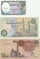 Vintage Group Lot of 3 Different  UNC Banknotes Egypt US Seller