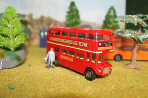 . London routemaster bus x2 red 12cm long £6.99 for both