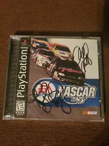 Autographed  playstation nascar 99 game autographed by adam petty and kyle petty