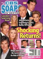 CBS Soaps In Depth April 18 2006 Jack Wagner Grayson McCouch Eileen Davidson