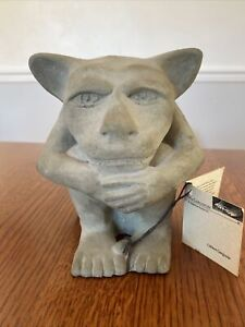 Dedo Gargoyle Statue - Signed K. Findling - 1990 6 inch garden Statue